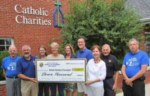 2016-09-09 Presentation to Catholic Charities from  Golf Outing 006